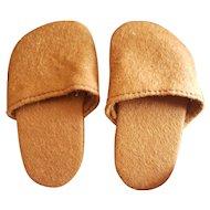 Vintage Felt Pair Lenci Doll Shoes