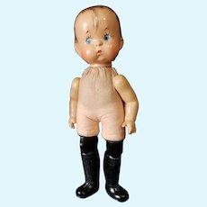 "Vintage Effanbee 14"" Nude Composition Skippy Doll"