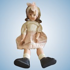 """Vintage Effanbee 20"""" Composition Anne Shirley Doll"""