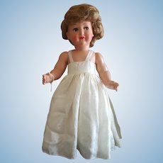 "Large 20"" Flirty Eye Celluloid Doll"