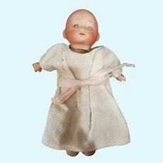 """Vintage 8"""" German Bisque Head Dream Baby Doll"""
