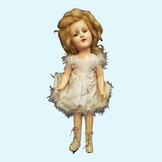 1930's Madame Alexander Composition Sonja Henie Doll in Tagged Outfit