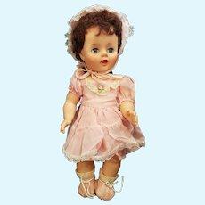 "Cute 1940's Rubber Vinyl 14 1/2"" Baby Doll"