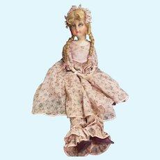 "Gorgeous Vintage 31"" Long Limbed Cloth Boudoir Doll"