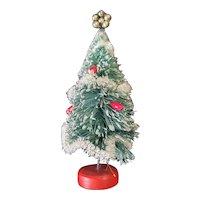 "Cute Vintage Bottle Brush Christmas Tree for Dollhouse 6"""