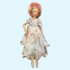 "Vintage Felt Lenci 20"" Boudior Doll"