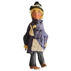 Wonderful Vintage Artist Paper Mache Scarecrow Puppet