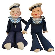 Vintage Norah Wellings Compo Head Sailor Doll Lot