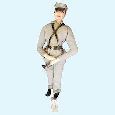1940's Bernard Ravca Needle Sculpted Cloth Bugle Boy Doll