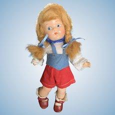 "Vintage Vogue Composition Ginny Toddles Gretel Doll 8"""