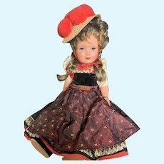 """Lovely 15 1/2"""" Vintage Celluloid German Schmider Doll"""