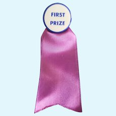 Neat Vintage Doll FIRST PRIZE Pin