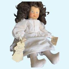 "Vintage 18"" German Pressed Felt Gabriele Rose West Doll"