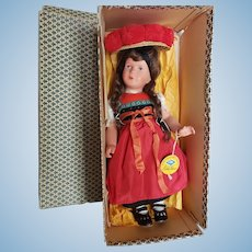 "Wonderful All Original Kathe Kruse 16"" Celluloid Doll in Box"