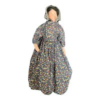 "Vintage Paper Mache 12"" Laura Etta Doll by LinMae"