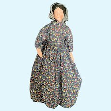 """Vintage Paper Mache 12"""" Laura Etta Doll by LinMae"""