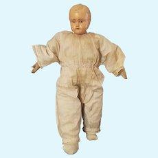 "Vintage 21"" Celluloid Head Cloth Body Doll"