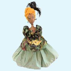 """Vintage Comical 20"""" Albertines Original Creole Queen Voodoo Doll"""