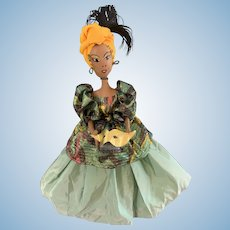 "Vintage Comical 20"" Albertines Original Creole Queen Voodoo Doll"