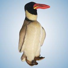 """Large 12 1/2"""" Steiff 1950's Mohair Penguin"""