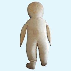 "Vintage Primitive Cloth Doll 15 1/2"""