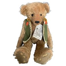 Teddy Bear Artist Patti Tierri Distressed Mohair Teddy Bear 15""