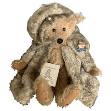 One of a Kind Laura Caruso Mohair Teddy 12""
