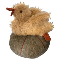 Teddy Bear Artist Jennifer Murphy Mohair Duck on Pincushion