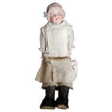 "Vintage Heubach 13 1/2"" Coquette Bisque Head Doll"