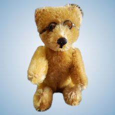"""Vintage 5"""" Schuco Yes No Teddy Bear with Glasses"""