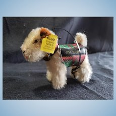 1950's Steiff Ginny Doll Mohair Puppy Terrier Dog