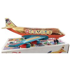 Vintage Foreign Walt Disney REEL Paperon Airline Plane Toy