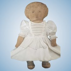 """Antique 1900 Fabric Mills Printed Cloth Doll 18"""""""