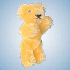 """Vintage 2 1/2"""" Mohair Schuco Gold Teddy Bear CUTE!"""