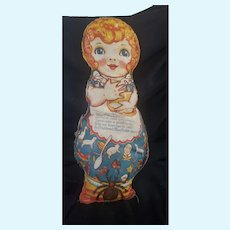 Vintage Two Sided Cloth Little Miss Muffett Doll