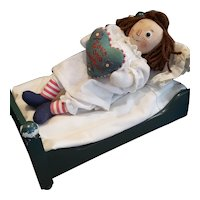 Vintage R. John Wright The Magical Hour Raggedy Ann Doll with Bed