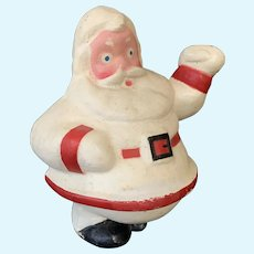 1940's Paper Mache Christmas Santa Candy Container 9""