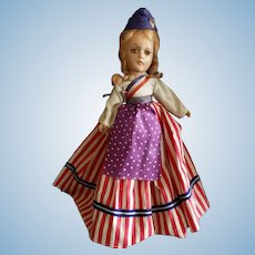 "Wonderful Vintage 11"" Patriotic Composition Doll"