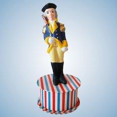 "7- 1/4"" Vintage George Washington Patriotic Candy Container"
