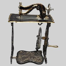 Rare German Dollhouse Soft Metal Sewing Machine Early 1900s