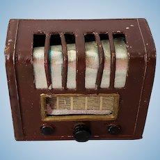Miniature 1930s Metal Radio for the Dollhouse