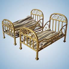 Set of Marklin Single Beds For The Dollhouse