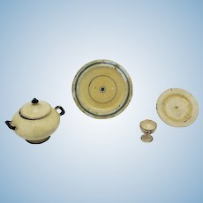 5 Piece Dollhouse Painted Treenware Set