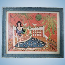 Colorful Framed Print for the Dollhouse by Artisan Al Chandronnait