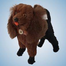 Adorable Vintage Dollhouse Sized Two Tone Poodle Dog