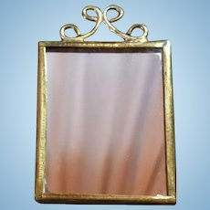 Brass Framed Rectangular Dollhouse Mirror