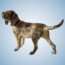 Miniature Cold Painted Bronze Hound or Pointer Dog Figure