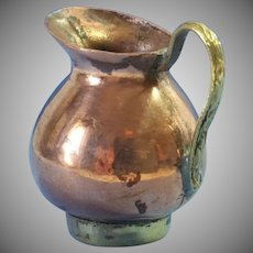 Finely Worked Copper/ Brass Miniature Pitcher