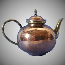 Vintage Hammered Copper/ Brass Dollhouse Teapot