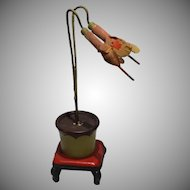 Vintage Dollhouse Potted Cyclamen Plant